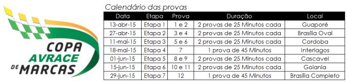 Calendário Marcas