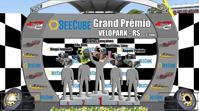 PÓDIO F-Truck AV RACE . LPVW BRASIL  etapa 3 velopark-rs